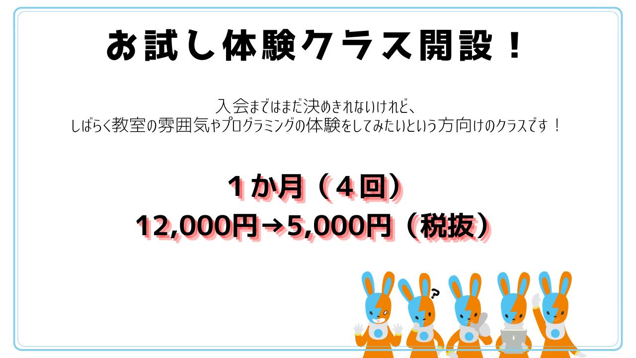 子どもプログラミング教室ITeensLab輝育 新規入会キャンペーン開催中!